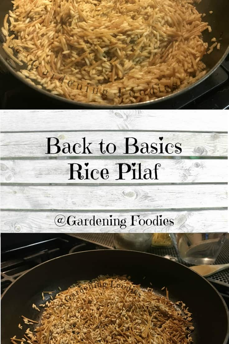 Ditch the box and make your own rice pilaf at home.  Cooking from scratch doesn't need to be difficult.  Replace the box and open up endless varieties.  Want more? Check out gardening foodies on facebook.